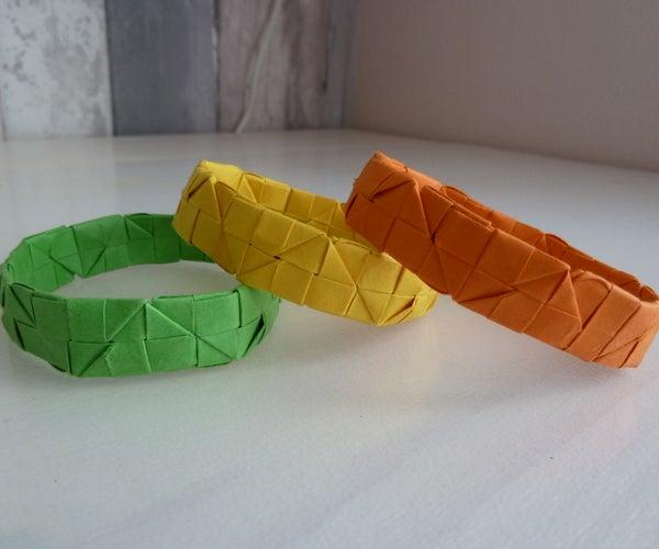 Origami Square Bracelets