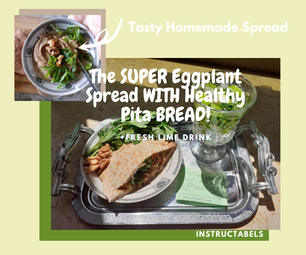 超级茄子与健康的皮塔饼面包传播!