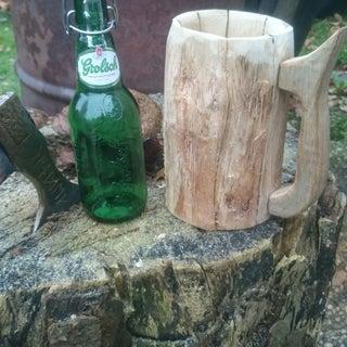 "Wooden ""Hobbit"" Tankard"