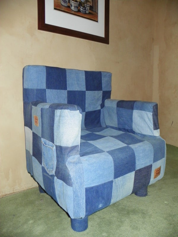 Can and Denim Chair