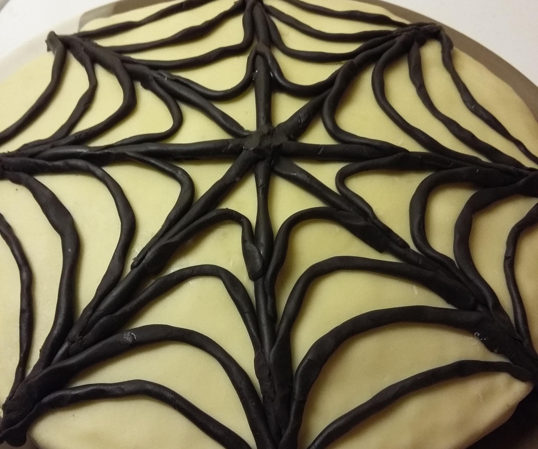 Elegant Spider Web Cake