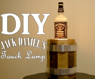 Jack Daniel's Edison Touch Lamp With Barrel