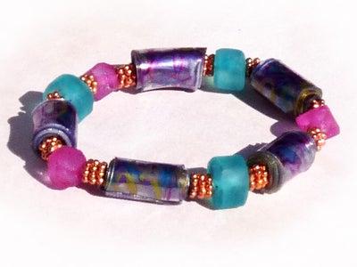 Recycled Plastic Bead Bracelets