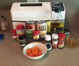 Easy Lentil Chickpea Stew - in the Bread Machine