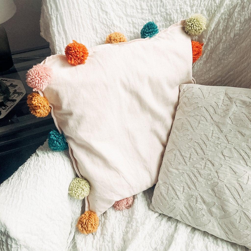 PROJECT 3- Pom-Pom Pillowcase