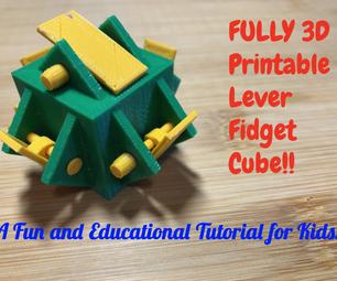 完全3D可打印杠杆包装立方体!!儿童乐趣和教育教程!