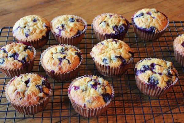 Gluten Free Blueberry Oatmeal Muffins