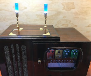 Steampunk Entertainment System With Moving Candles and Parts.