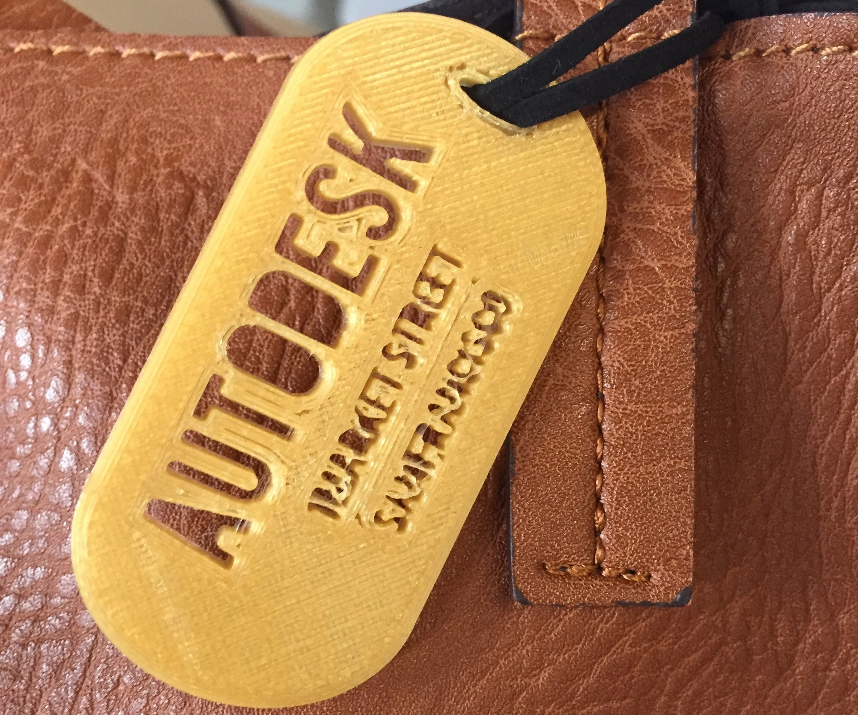 Design and 3D Print a Bag Tag