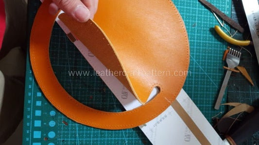 Cut All Leather Pieces From Pattern, Punch Stitching Holes