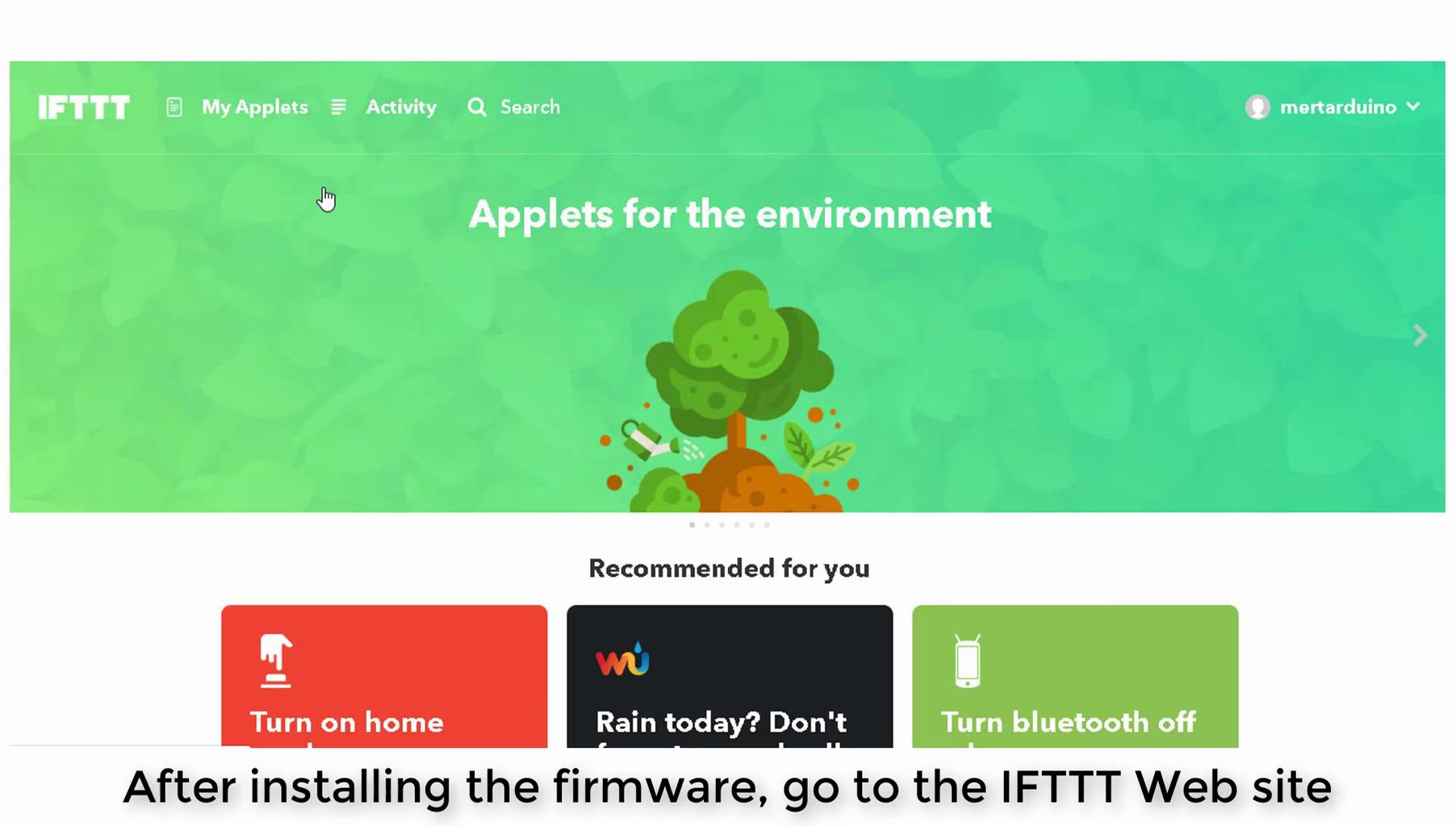 IFTTT and Arduino IDE Source Code