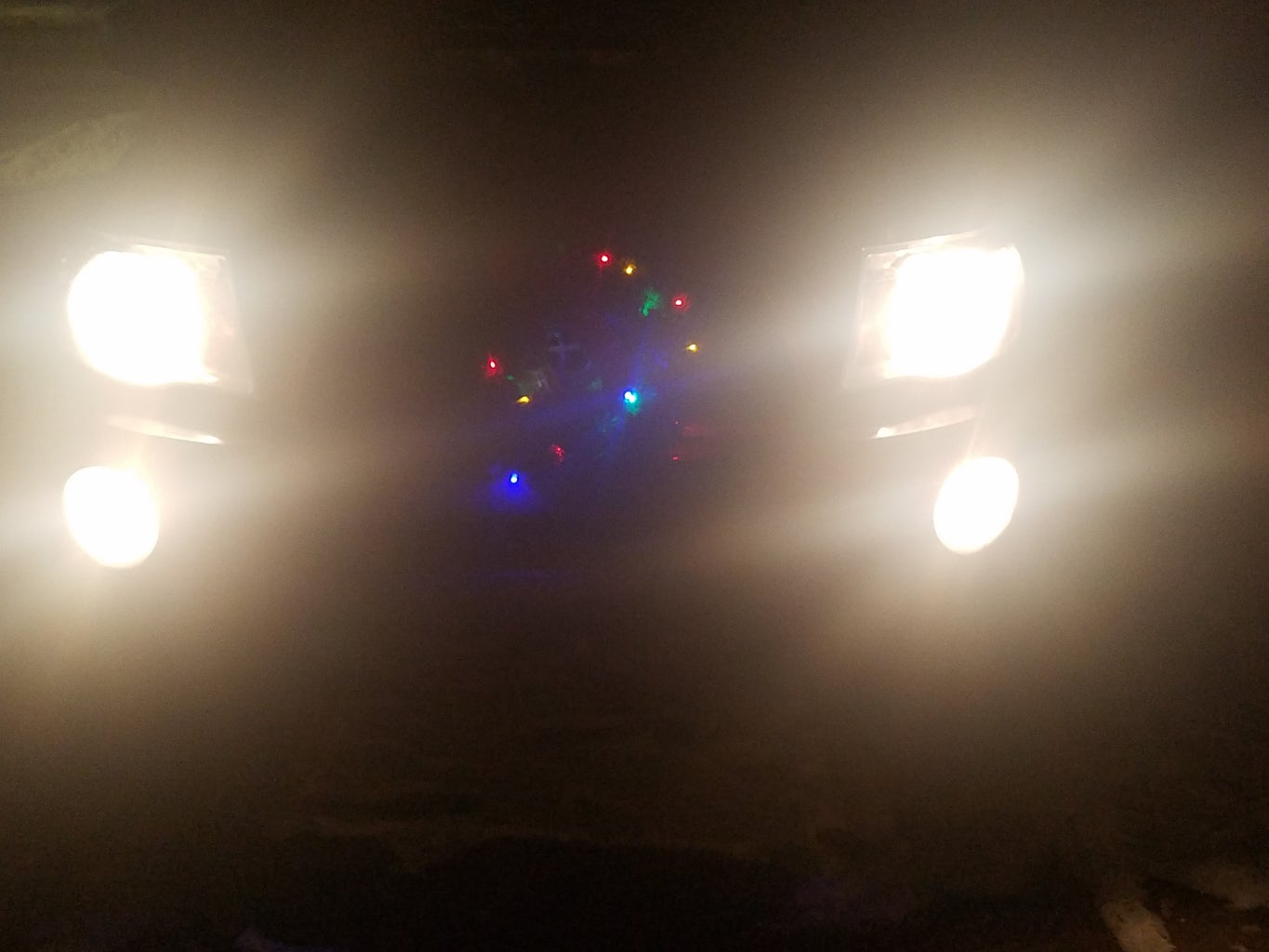 Light Up Christmas Wreath for Front of Car