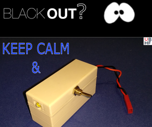 LED Emergency Lamp (Mostly Reclaimed)