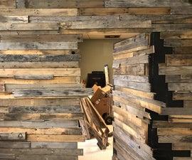 Secret Door and Pallet Wall Facade. Trash to Treasure!!