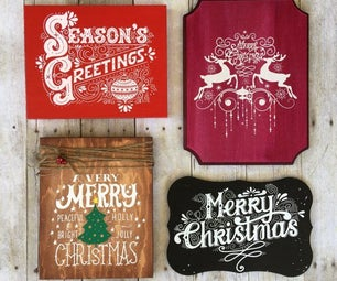 DIY Screen Printing Custom Wooden Christmas Signs