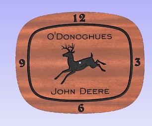 John Deere用渴望的9.5雕刻钟