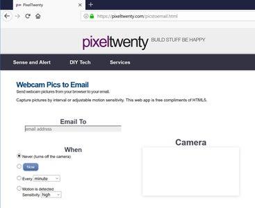 Open the Webcam App in Your Browser