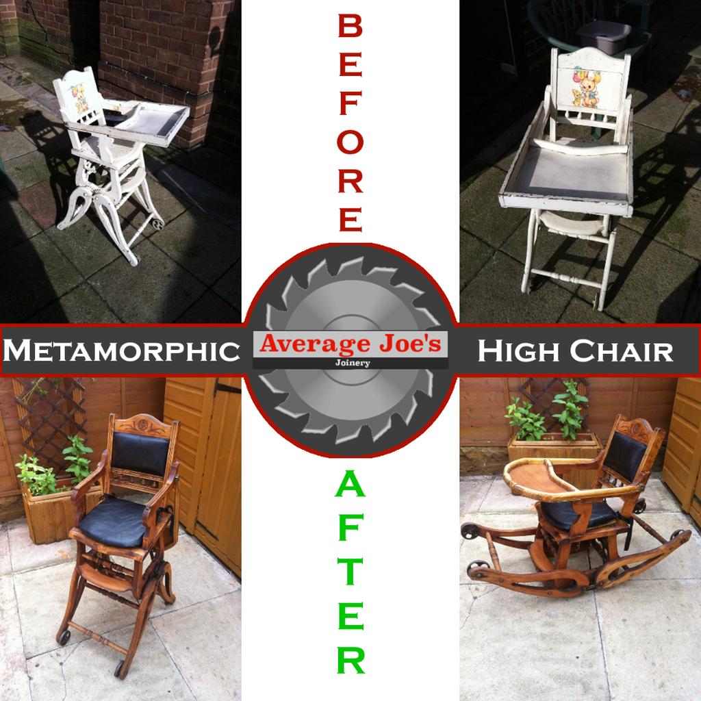 Restoring a Childs Metamorphic High Chair