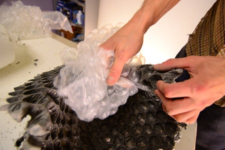 Remove Plastic Forms and Peel Off Bubble Wrap