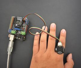 可穿戴的arduino谎言戒指
