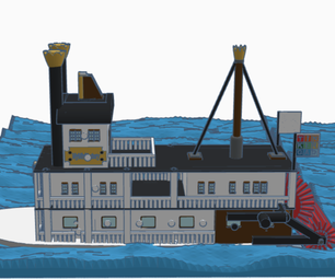 机械蒸汽船玩具