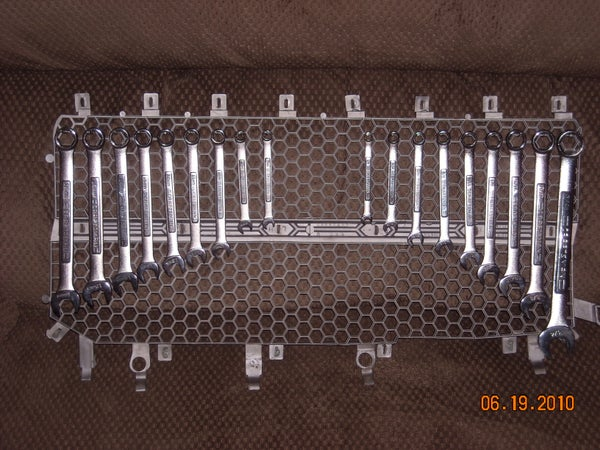 Re-purpose Truck Grille for Tool Storage DIY Tool Storage