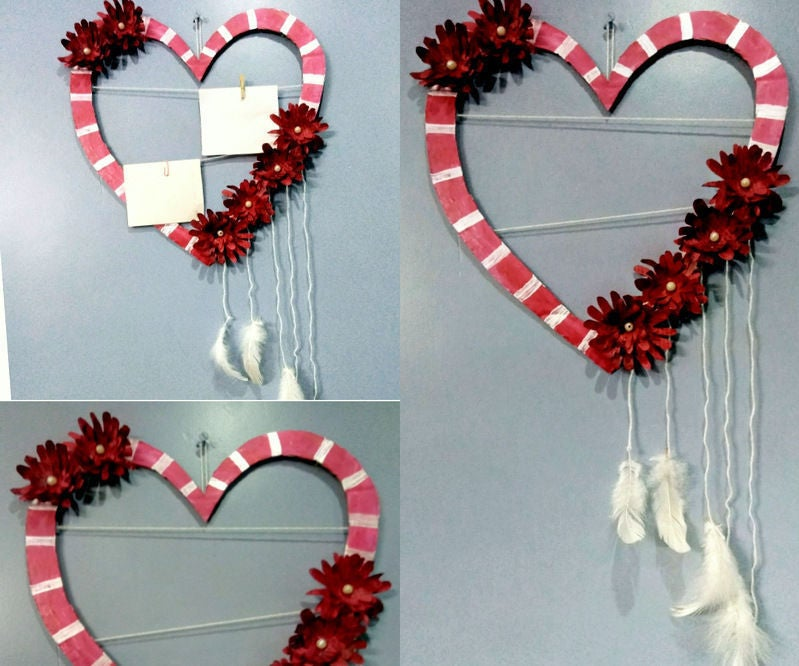 Heart Shaped Photo Frame And Wall Decor 6 Steps With Pictures Instructables
