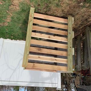 Wood Frame Compost Bin