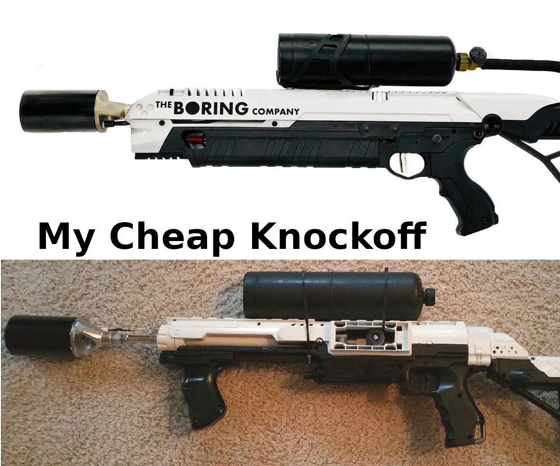 """How to Make a Boring Company """"Not a Flamethrower"""" Nerf Knockoff"""