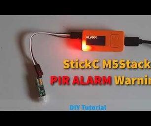 M5StickC-ESP32 Mini PIR Alarm System