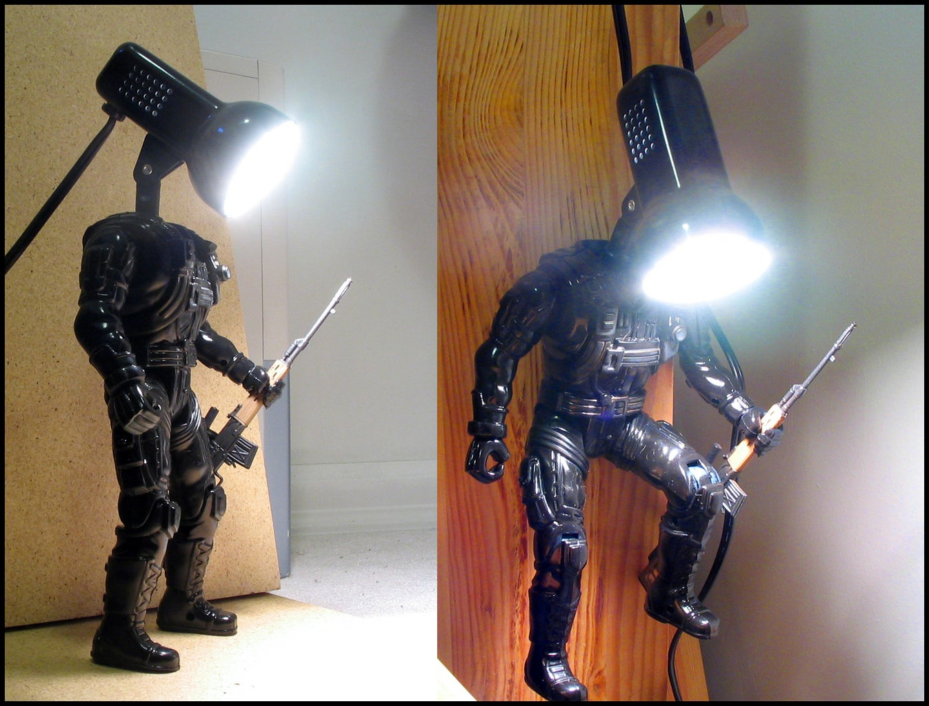 Build an Action Figure Lamp
