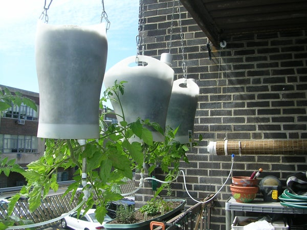 Upside-Down Hanging Self-Watering Earth-Filled Box!