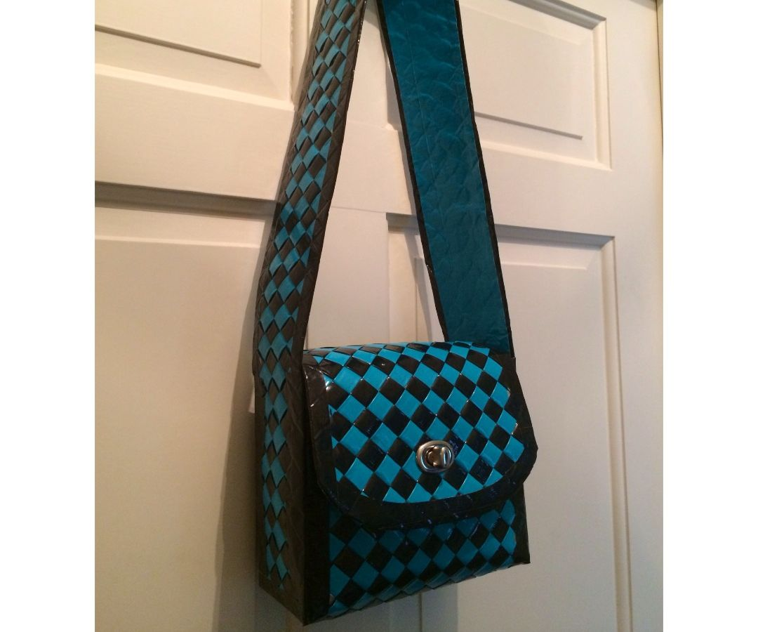 Duct Tape Woven Purse