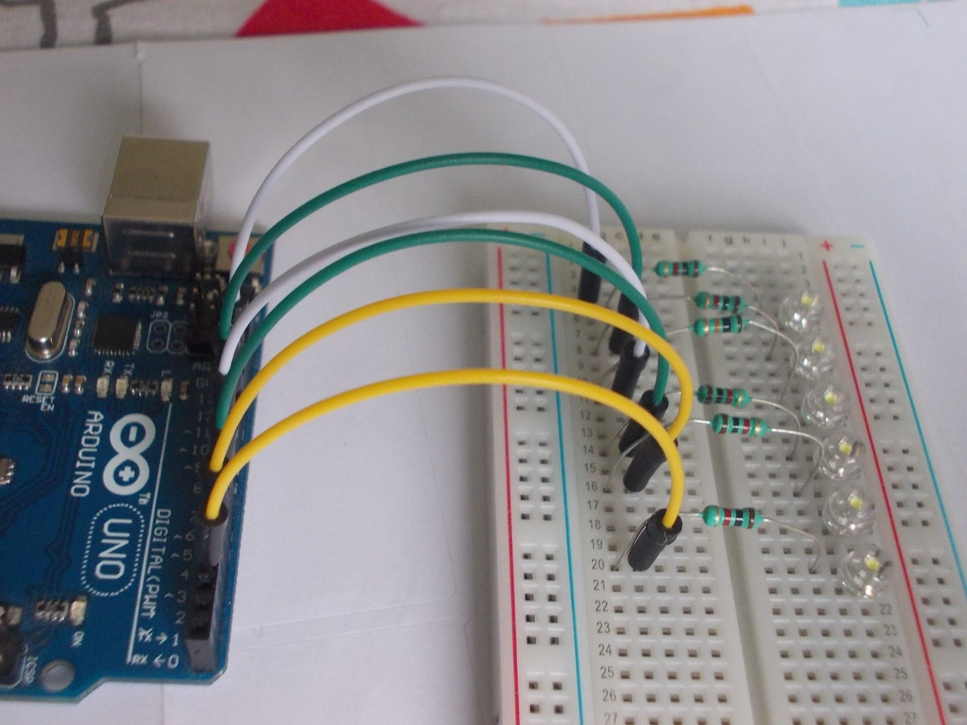 Connect the LED's to the Arduino.