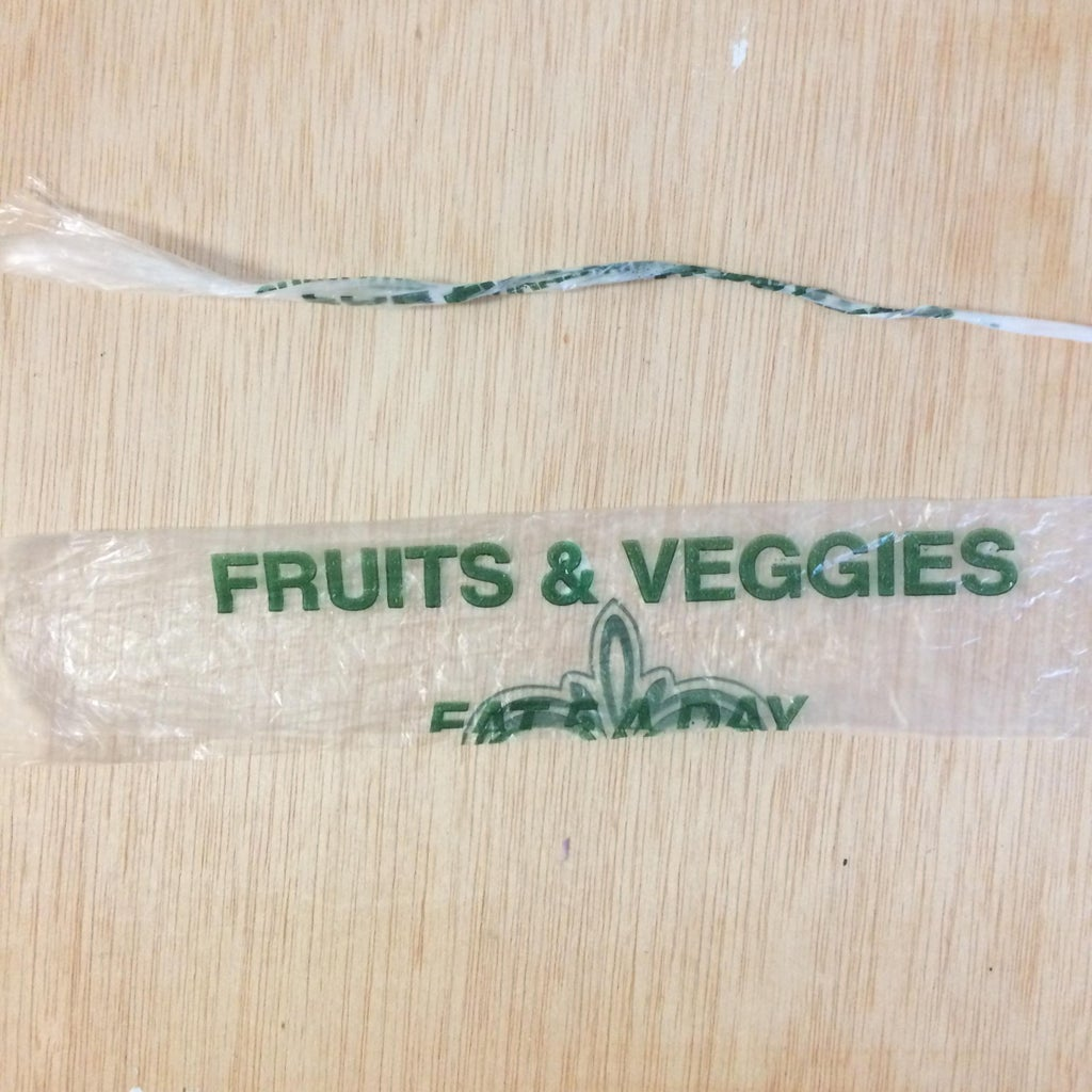 Cut Thin and Long Strips of Plastics