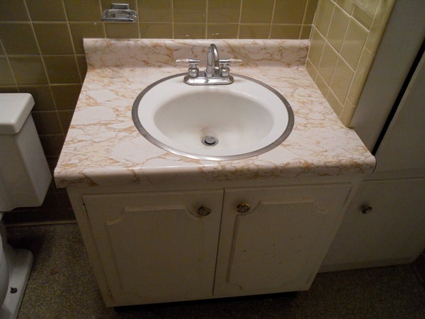 Removing a Sink and Vanity; Home Improvement