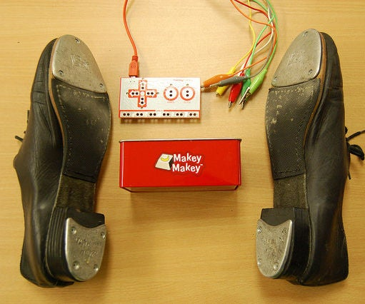 MakeyMakey Tap Shoes
