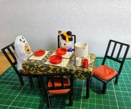 Sylvanian大小的用餐套装(Tinkercad&3D打印教程)