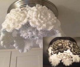 Boho Crochet Ceiling Light Globe Cover
