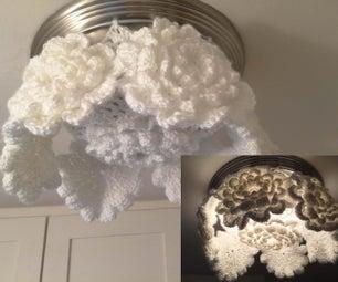 波西米亚钩针天花板灯罩