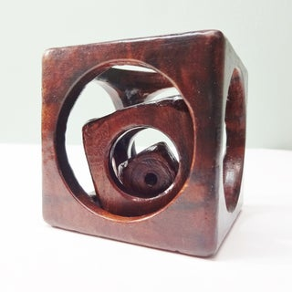 Wooden Cube in a Cube in a Cube