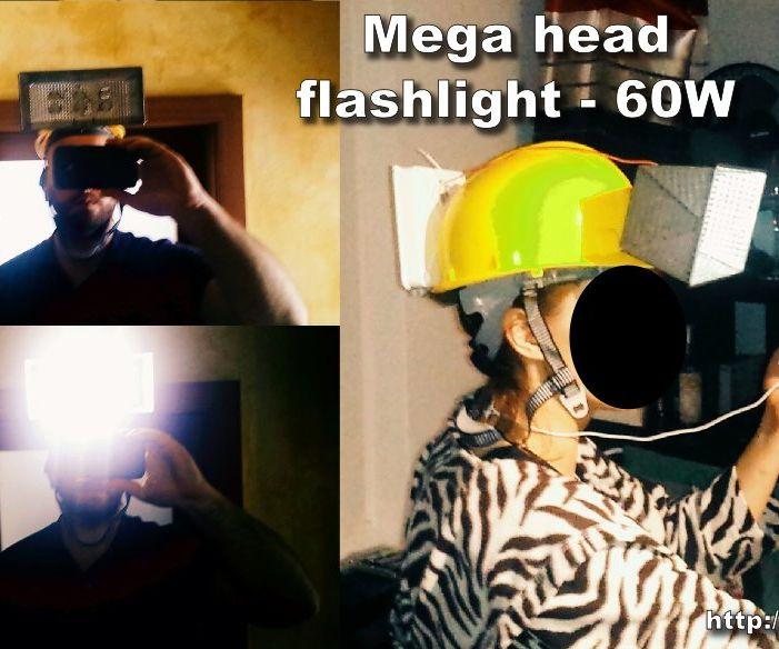 DIY Mega Head Flashlight With 6x10W LEDs