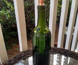 Wine Bottle Oil Lamp