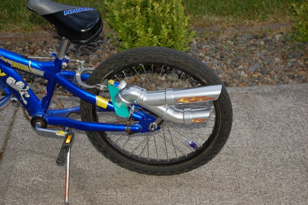 Make a Muffler/Tailpipe for Your Bicycle.