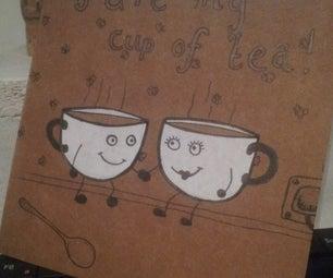 """手工制作的""""你是我的一杯茶""""卡"""