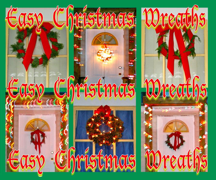 Easy Christmas Wreaths