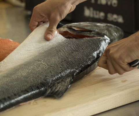 Breaking Down A Whole Salmon