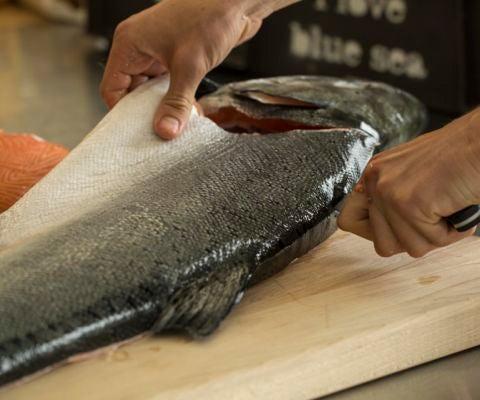 Breaking Down a Whole Salmon