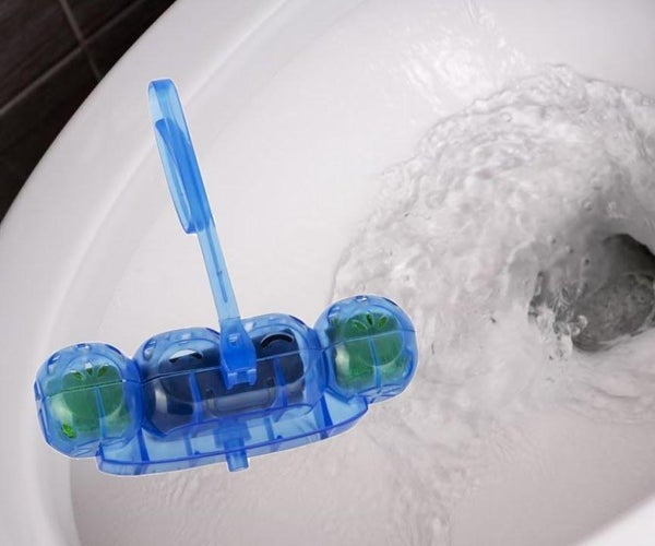 How to Place a Toilet Rim Block