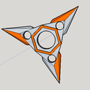 3 Tipped Shuriken/ Throwing Star That You Probably Shouldn't Throw Spinner